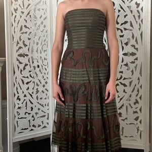 BCBGmaxazria olive tulle dress